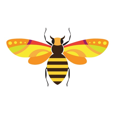 Decorativi immagini stilizzate di insetti - ape Archivio Fotografico - 10069410