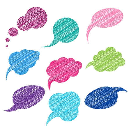 Set of color comic bubbles for speech. Stock Vector - 10380225