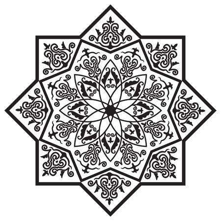 Rosette with Arabic floral pattern