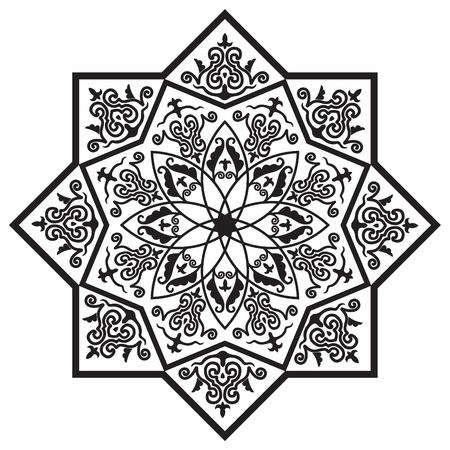 Rozet met Arabische bloemmotief
