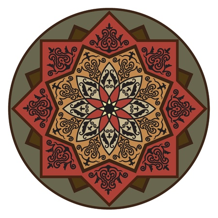 motive: Rosette with Arabic floral pattern