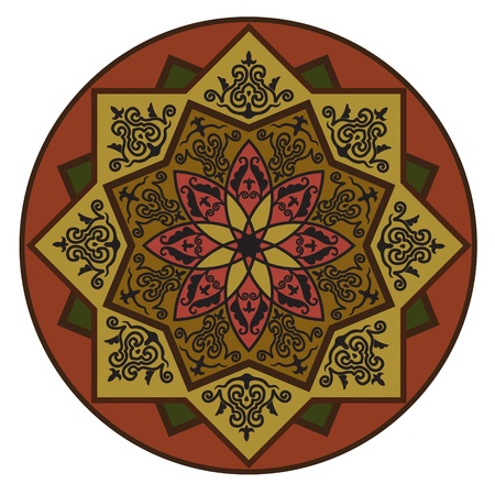 Rosette with Arabic floral pattern.