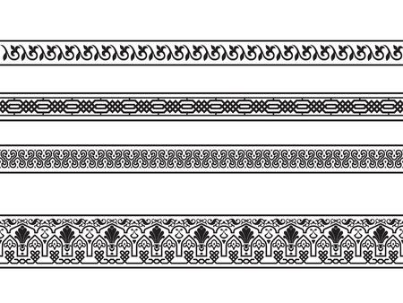 adornment: delle frontiere con i disegni floreali e geometriche di arabi.