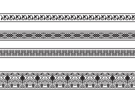 of borders with the Arab floral and geometric designs.