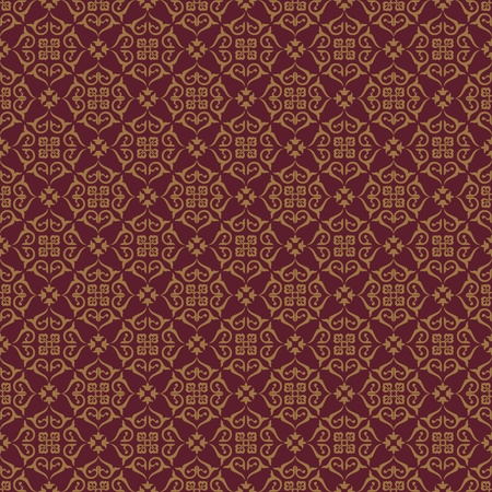Seamless background with Arabic floral pattern. Ilustracja