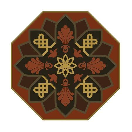 Rozet met Arabisch bloemen patroon.