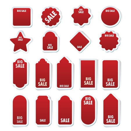 new product: Set of stickers for sale on white background.