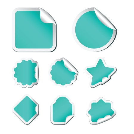 Set of stickers for sale on white background Vector