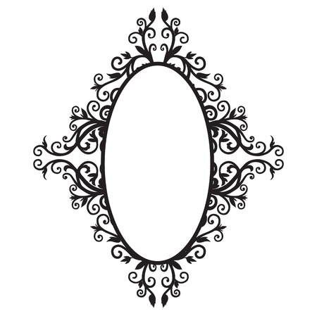 rapport: Frame background with floral Arabic  The black graphics
