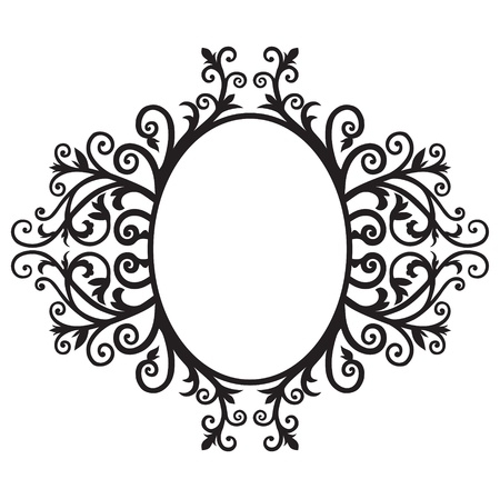 arabic style: Frame background with floral Arabic  The black graphics