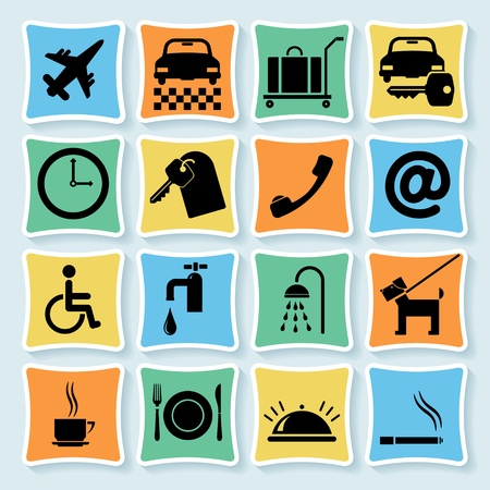 Set of icons, symbols for  hotel. Stock Vector - 13191905