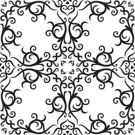 Arabic ornament, rosette in square. Stock Vector - 13403177