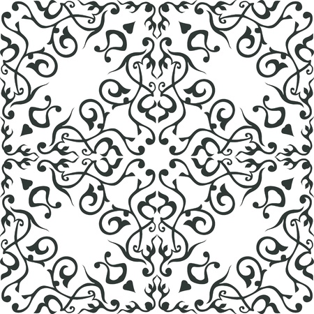repeat texture: Arabic ornament, rosette in square.