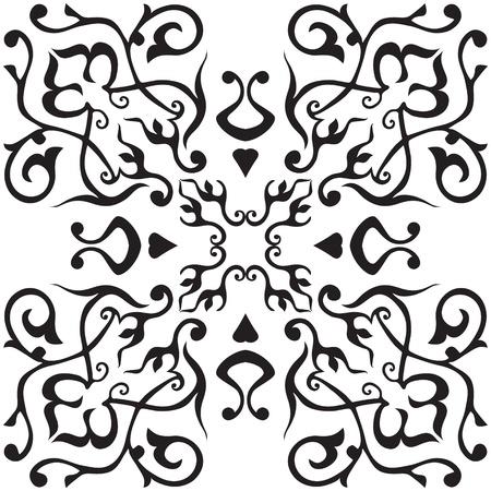 Arabic ornament, rosette in  square Stock Vector - 13403176
