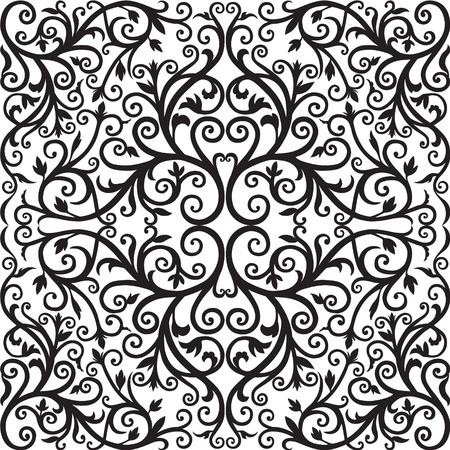 Arabisch bloemmotief Black graphics