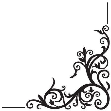 굽힘: 아랍어 꽃 패턴입니다. 디자인 코너 요소입니다. 일러스트