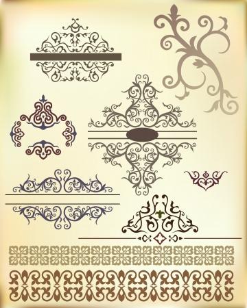motive: Band aus dem Arabischen floralen Ornament Vektor Illustration