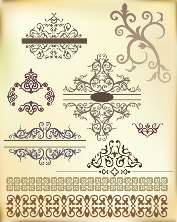 motif floral: Band from Arabic floral ornament  Vector
