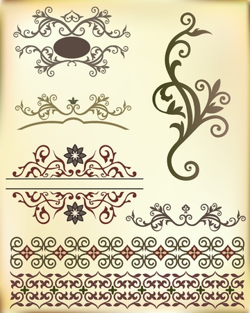 rich wallpaper: Band from Arabic floral ornament  Vector