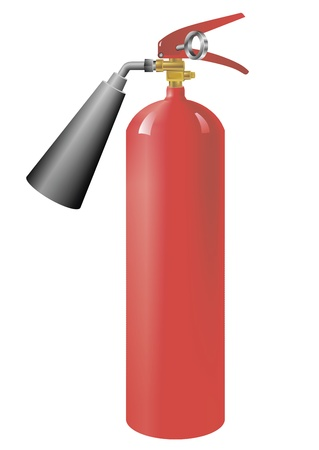 health and safety: Fire extinguisher image, isolate on white background  Illustration