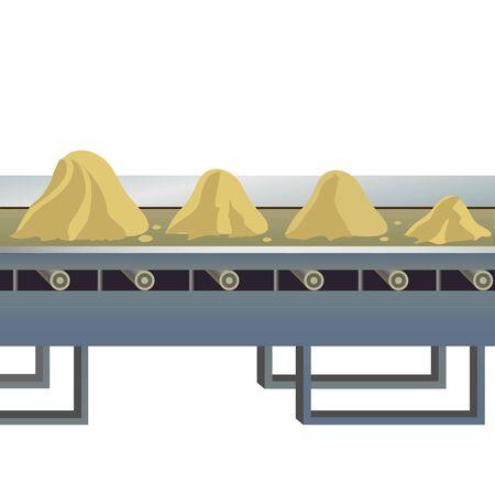 obligations: Image of a conveyor belt to transport sand.