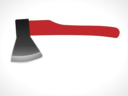 control tools: Image of an ax to fight the fire  Illustration
