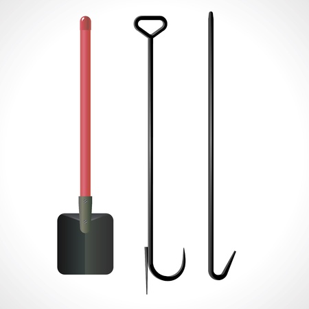 control tools: Image tool to fight the fire  Illustration
