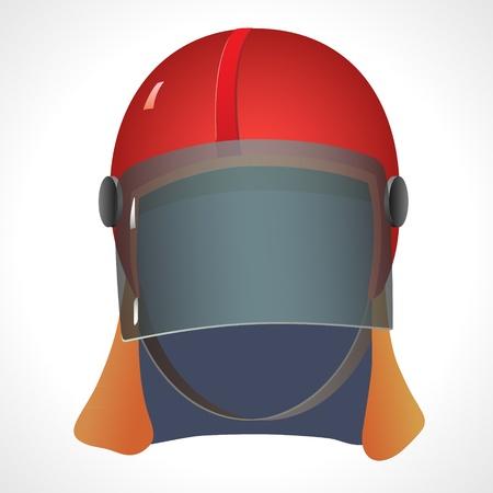 ergonomics: Firefighter helmet on a white background   Illustration