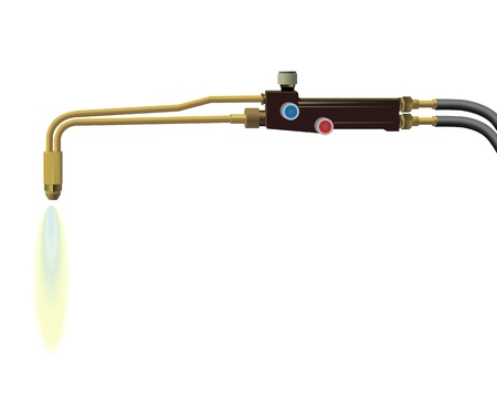 brazing: Image of a gas welding machine on a white background