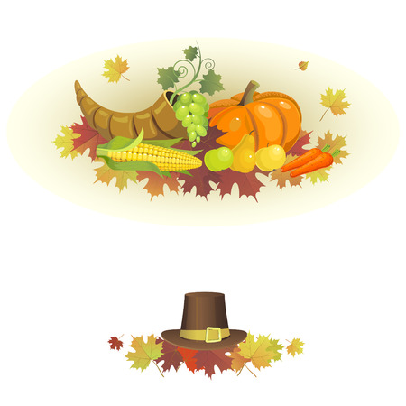 Illustration for the Thanksgiving holiday Vector