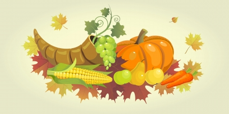 cornucopia: Illustration for the Thanksgiving holiday