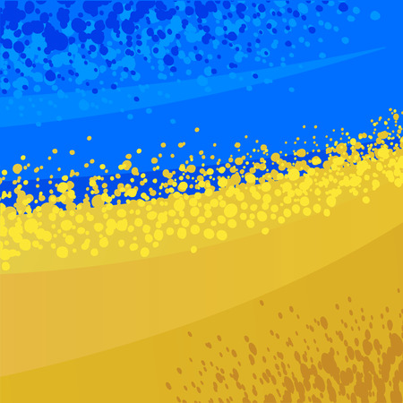 ukrainian flag: Abstract composition on the topic of Ukraine.