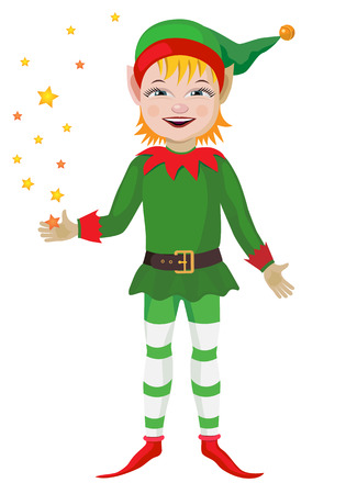 Vector illustration. Elf for the Christmas holiday.