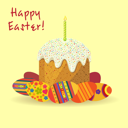 Cake for Easter egg with space for text. Vector