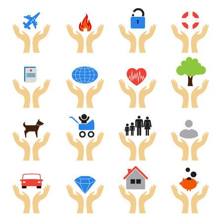 circumstances: Set of icons for insurance companies