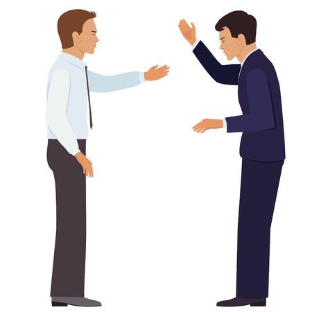 conversaciones: Concepto de diseño de asociación establecido con iconos planos de inversión colaboración negociaciones acuerdo aislado ilustración vectorial