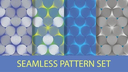 ellipse: seamless background ellipse vector pattern blue variations