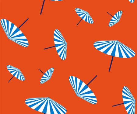 Seamless summer beach pattern. Hello Summer, holiday concept. Pop art. Summer holiday. Vector seamless pattern illustration