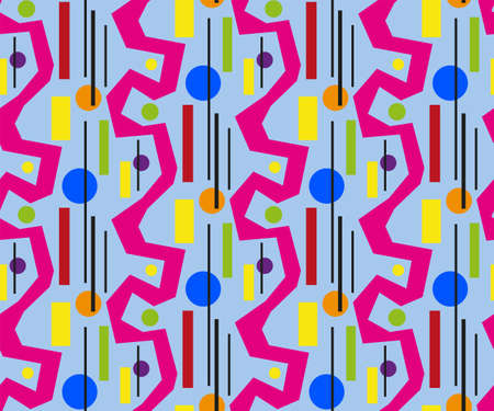 Abstract seamless pattern, colorful design, vector illustration