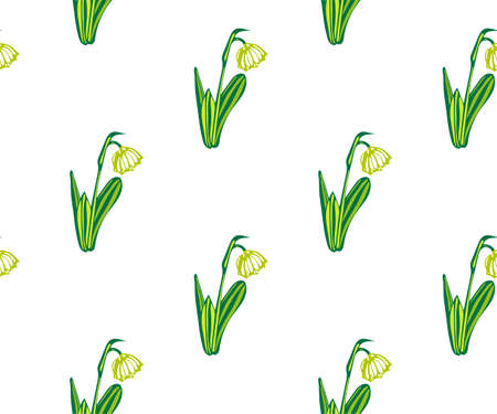 Seamless floral pattern with wild spring flower ornamental decorative background. Vector pattern. Print for textile, cloth, wallpaper, scrapbooking