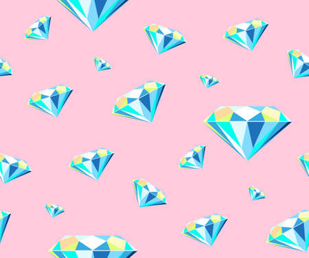 Vector background shiny brilliant stones sparkling jewelry. Modern ornamental decorative background. Vector pattern. Print for textile, cloth, wallpaper, scrapbooking
