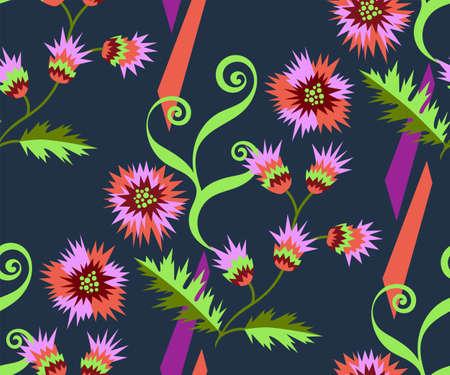 background abstract artwork. Hand drawn ink illustration. Modern ornamental decorative background. Vetores
