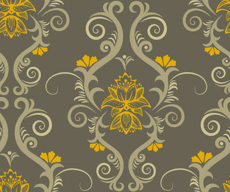 Vector ornamental hand drawing decorative background. Ethnic seamless pattern ornament. Vector pattern. 矢量图像