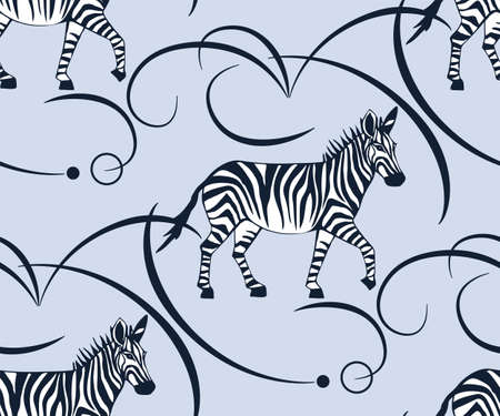 background hand drawn exotic wild animals elephant. Hand drawn ink illustration. Modern ornamental decorative background. Print for textile, cloth, wallpaper, scrapbooking 矢量图像