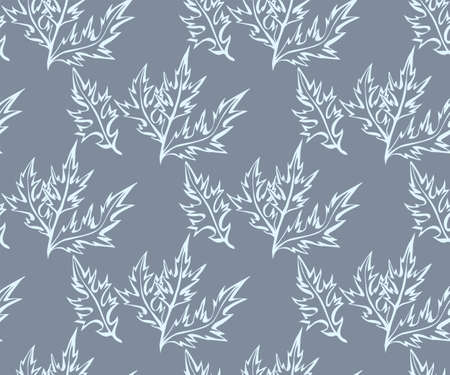 Hand drawn artemisia. Hand drawn ink illustration. Modern ornamental decorative background. Vector pattern. Print for textile, cloth, wallpaper, scrapbooking