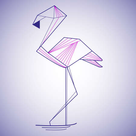 beak: Pink flamingo vector illustration
