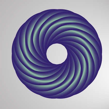 トーラスのような図で抽象的な幾何学的な形