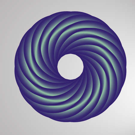 Abstract geometric shape with torus-like figure