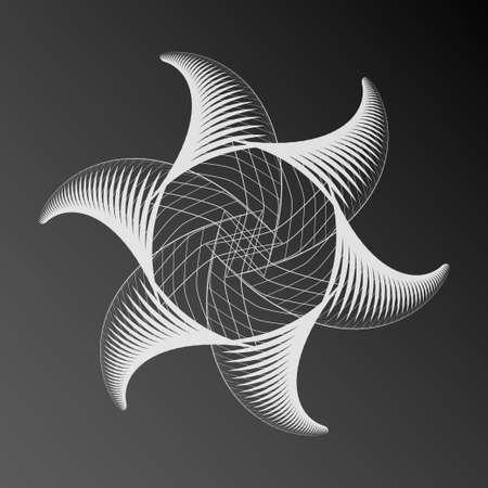 spirograph: Abstract decorative spirograph star element