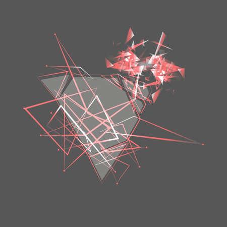 Abstract gray explosion. Illustration